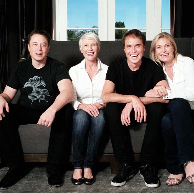 Maye Musk and her family