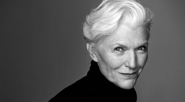 Maye Musk close up