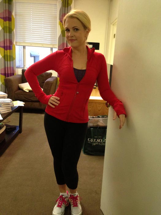 Melissa Joan Hart in her workout gear