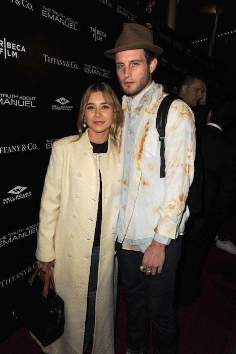 """Olesya Rulin and Nico Tortorella at """"The Truth About Emanuel"""" premiere in December 2013"""