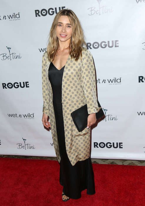 Olesya Rulin at Rogue Magazine Launch Party in February 2016
