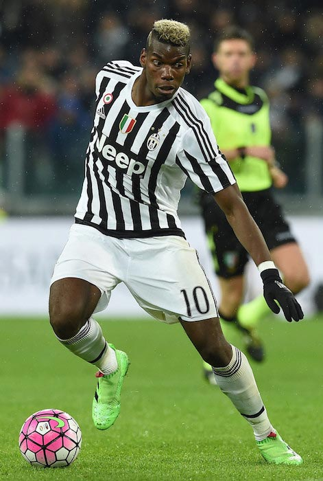 Paul Pogba with the ball during a match between Juventus FC and FC Internazionale Milano on February 28, 2016 in Turin, Italy