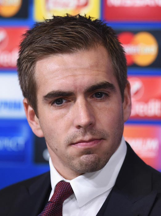 Philipp Lahm during a press conference at Juventus Arena on February 22, 2016 in Turin, Italy