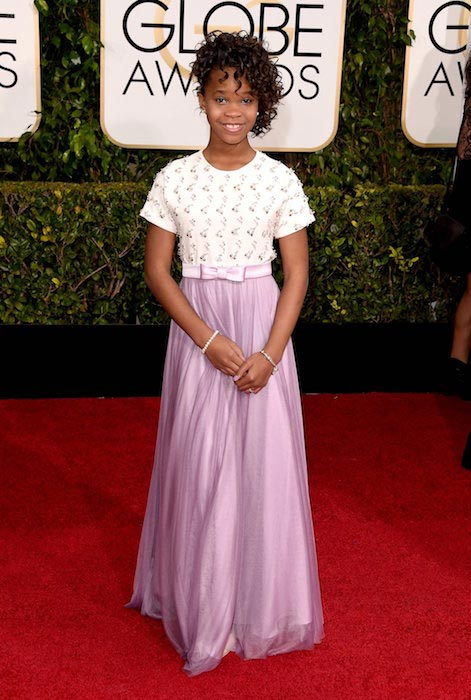 Quvenzhane Wallis at Golden Globe Awards 2015