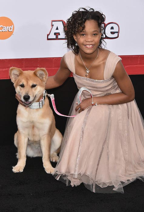"Quvenzhane Wallis at the ""Annie"" world premiere in December 2014"