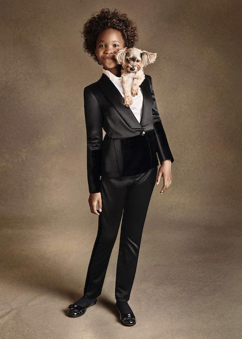 Quvenzhane Wallis modeling for Armani Junior