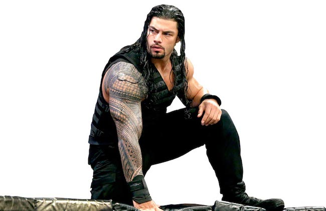 Roman Reigns's huge arms