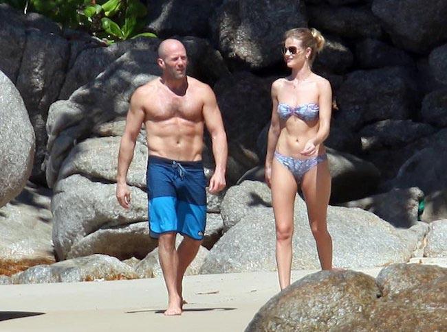 Rosie Huntington-Whiteley and Jason Statham in Phuket, Thailand in January 2016
