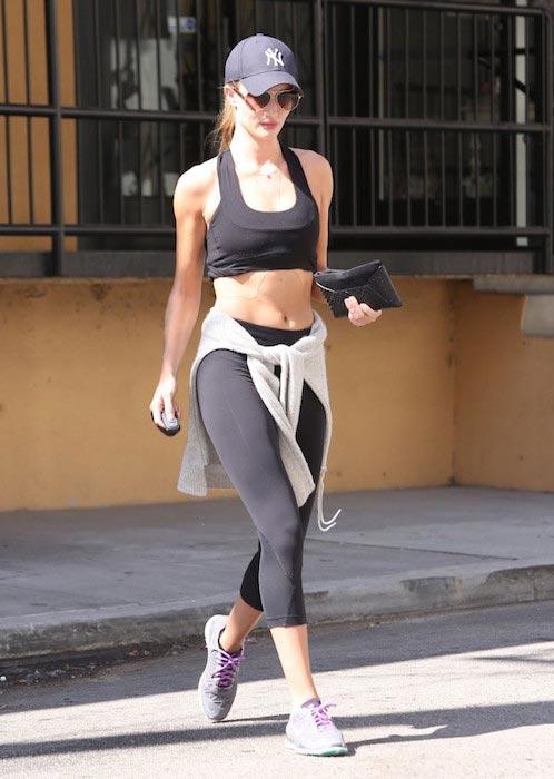 Rosie Huntington-Whiteley leaving gym