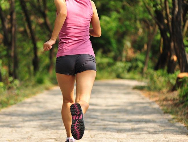 Runner's rear
