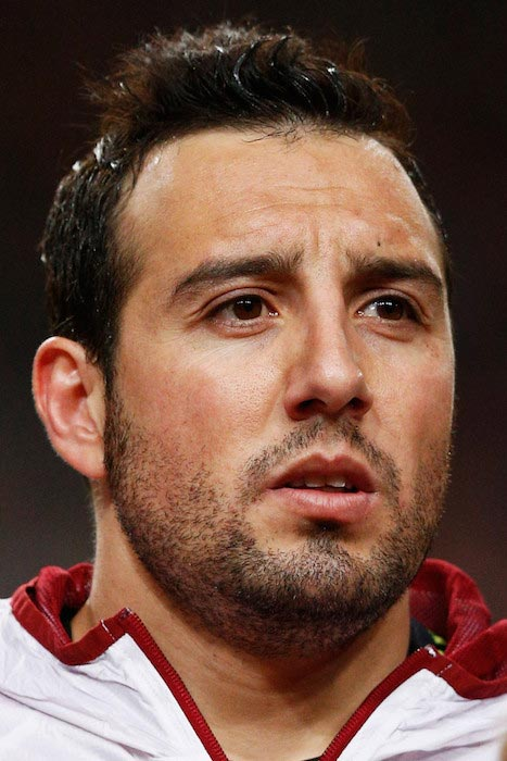 Santi Cazorla before a match between Spain and Netherlands on March 31, 2015 in Amsterdam, Netherlands