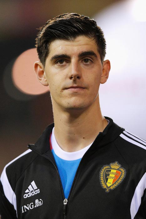 Thibaut Courtois prior a match between Belgium and Wales on November 16, 2014 in Brussels, Belgium