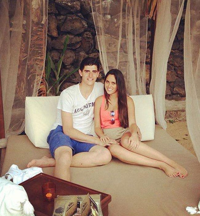 Thibaut Courtois and his sweetheart Marta Dominguez