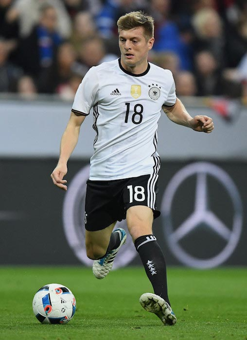 Toni Kroos in action during a game between Germany and Italy on March 29, 2016 in Munich, Germany