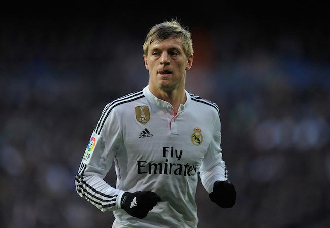Toni Kroos during a match between Real Madrid CF and RC Deportivo La Coruna on February 16, 2015 in Madrid, Spain
