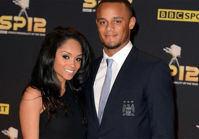 Vincent Kompany and his wife Carla