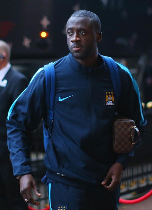 Yaya Toure going to the Capital One Cup match between Manchester City and Sunderland on September 22, 2015 in Sunderland, England