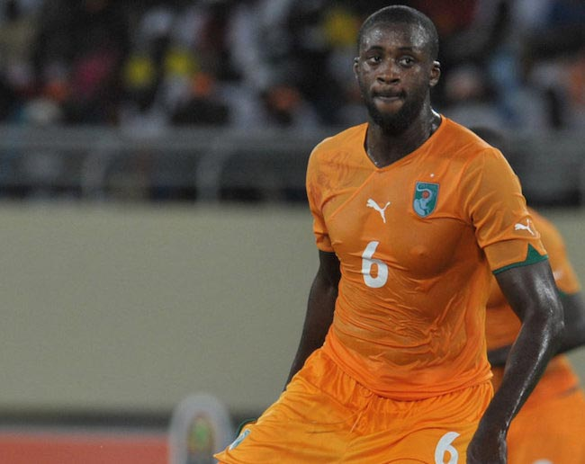 Yaya Toure during a match for his national team