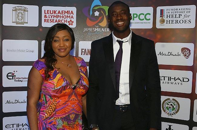 Yaya Toure with his wife Gineba Toure