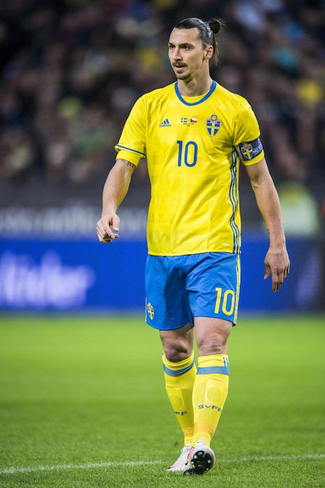 Zlatan Ibrahimovic during a friendly match between Sweden and Czech Republic on March 29, 2016 in Solna, Sweden