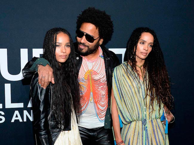 Zoe Kravitz with dad Lenny Kravitz and mom Lisa Bonet