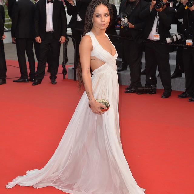 Zoe Kravitz on the red carpet