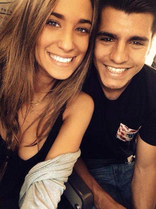 Alvaro Morata and Maria Pombo