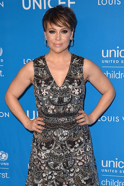 Alyssa Milano at 6th Biennial UNICEF Ball in Beverly Hills in January 2016