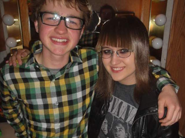 Angus T. Jones and Sarah M
