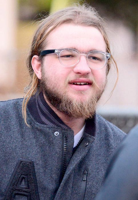 Angus T. Jones in beard