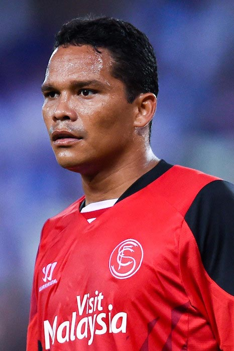Carlos Bacca during a match between Sevilla FC and RCD Espanyol on August 30, 2014