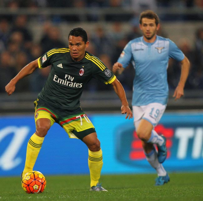 Carlos Bacca in action during a match against SS Lazio on November 1, 2015 in Rome, Italy