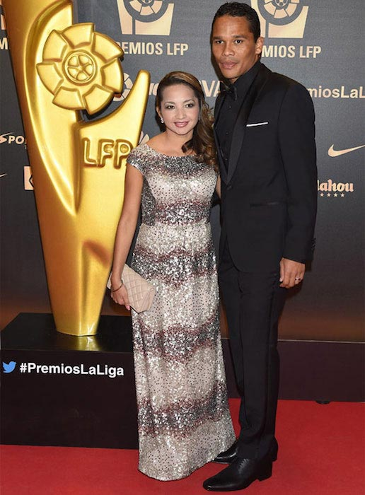 Carlos Bacca with his wife Shayira Santiago
