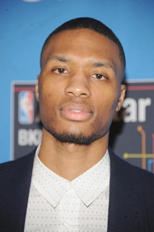Damian Lillard at the 2015 NBA All-Star Weekend on February 14, 2015 in New York