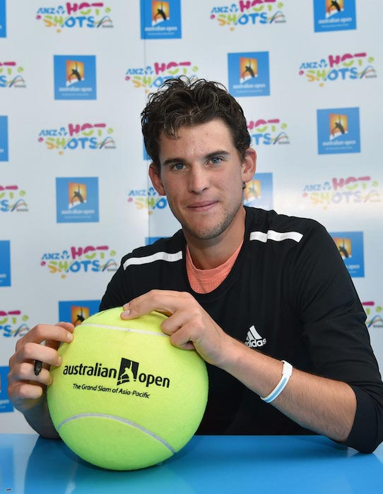 Dominic Thiem at the Autograph Island on January 19, 2016 in Melbourne, Australia