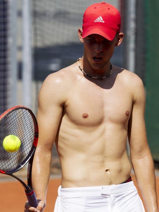Dominic Thiem shirtless body