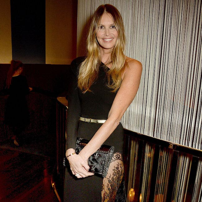 Elle Macpherson at the British Fashion Council Vogue Designer Fashion Fund Dinner at the Bulgari Hotel on March 22, 2016
