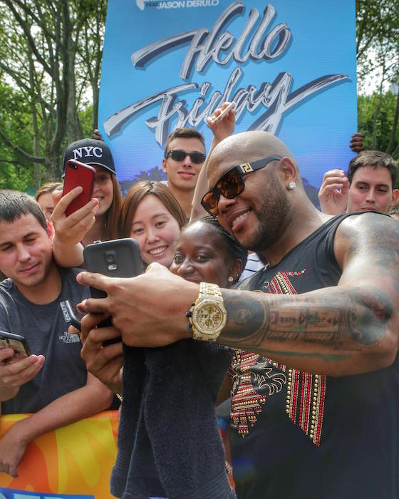 Flo Rida gold watch