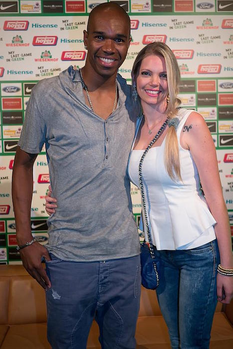 Footballer Naldo and his wife Carla Paludo Rodrigues