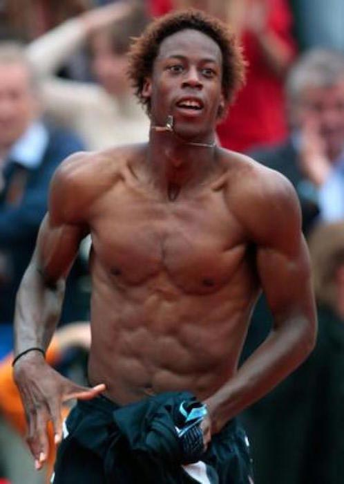 Gael Monfils shirtless body