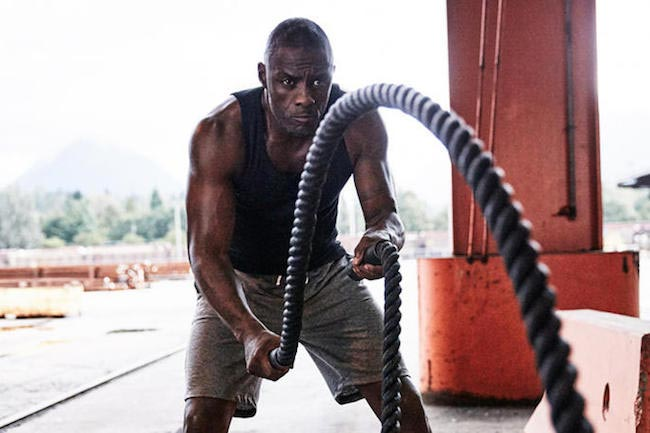 Idris Elba rope workout