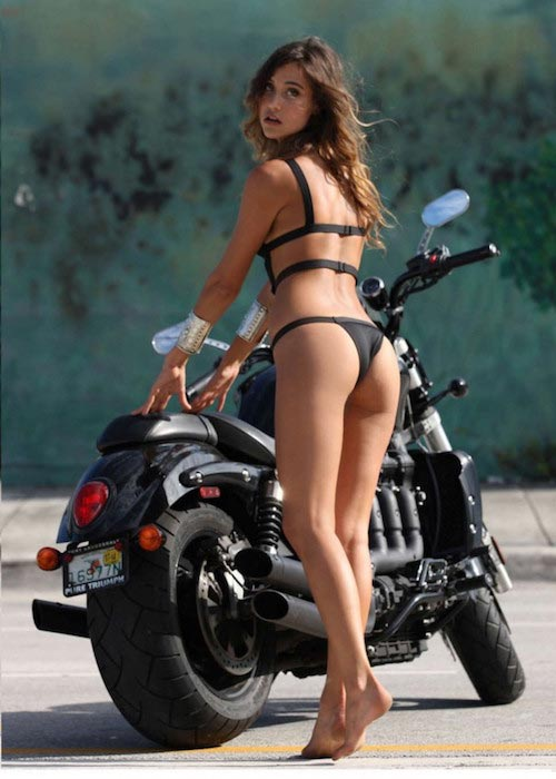 Jehane Gigi Paris during Motorcycle Diaries Shoot 2015
