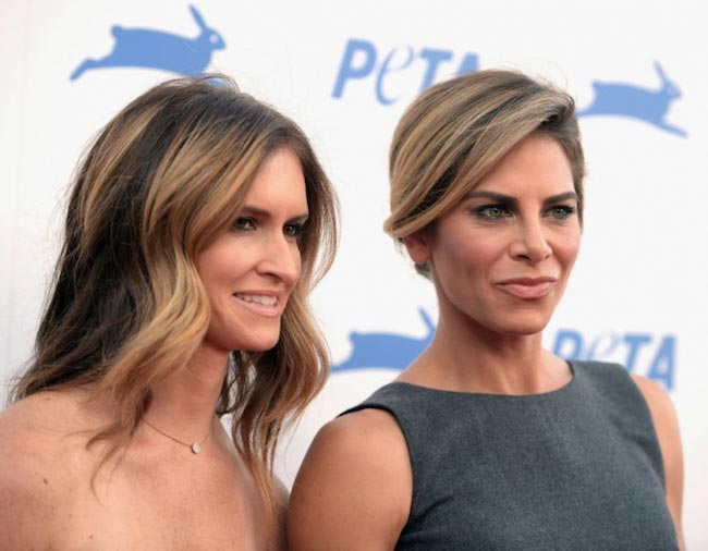 Jillian Michaels and her partner Heidi Rhoades