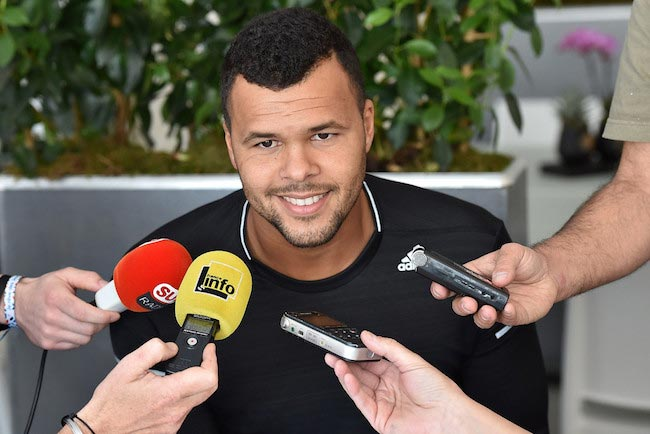 Jo-Wilfried Tsonga during media day at the ATP Monte Carlo Masters on April 10, 2016