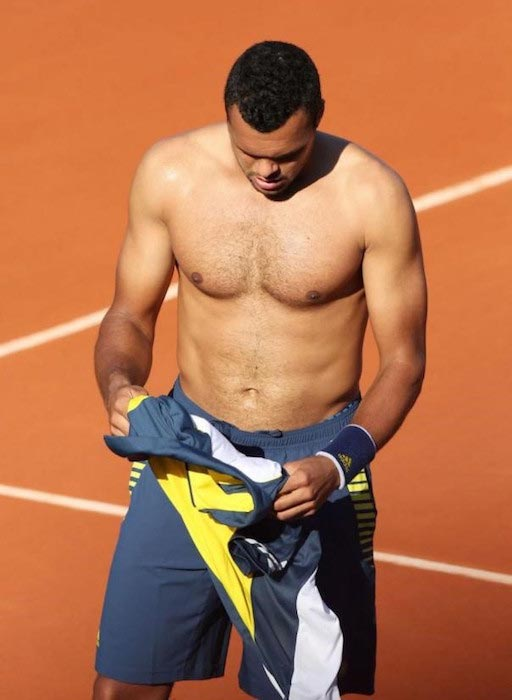 Jo-Wilfried Tsonga shirtless body