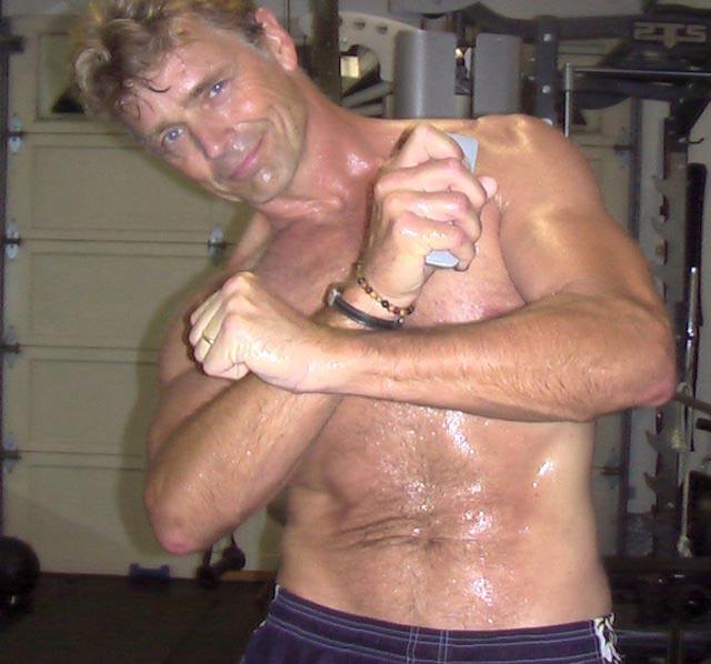 John Schneider shirtless body