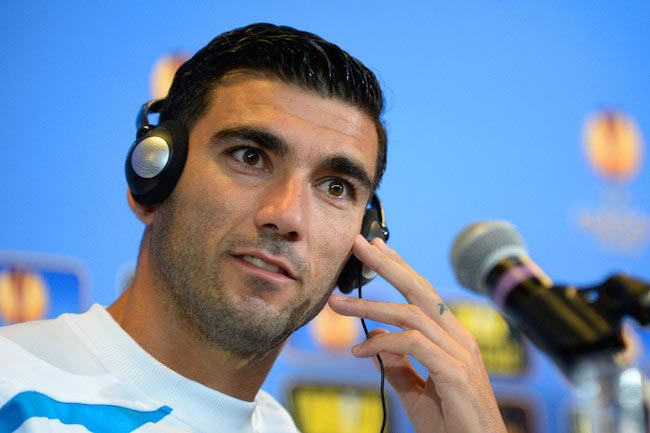 José Antonio Reyes during a press conference for FC Sevilla on May 26, 2015 in Warsaw, Poland