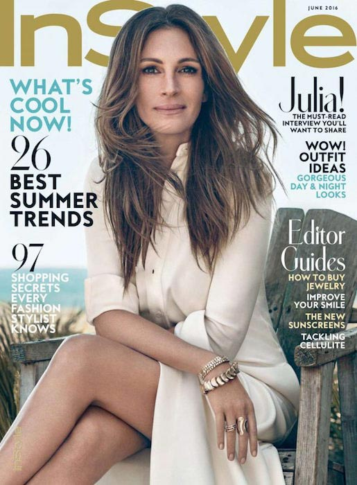 Julia Roberts for InStyle magazine US June 2016 issue