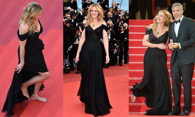 Julia Roberts barefoot at Cannes 2016