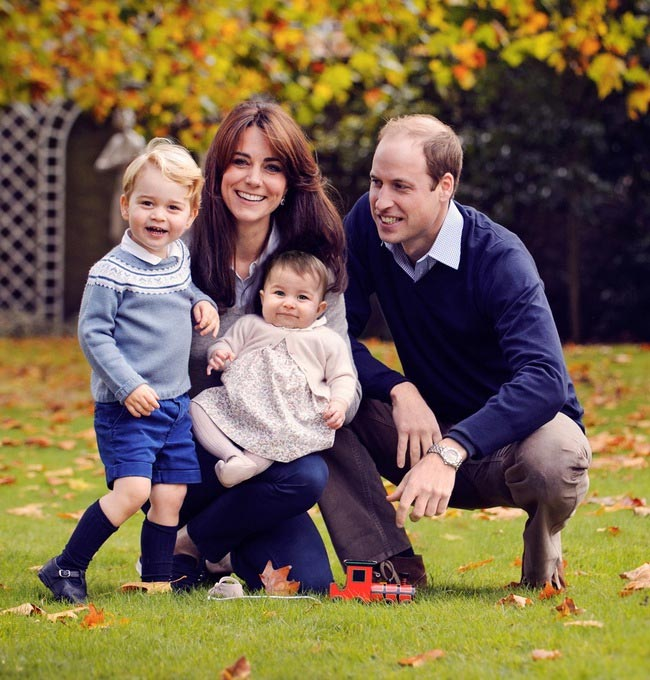 Kate Middleton with her family